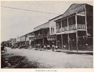 Columbia Street in the early days