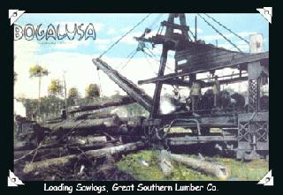 Loading Sawlogs, Great Southern Lumber Co.