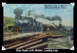 Shay Engine with Skidder, Loading Logs